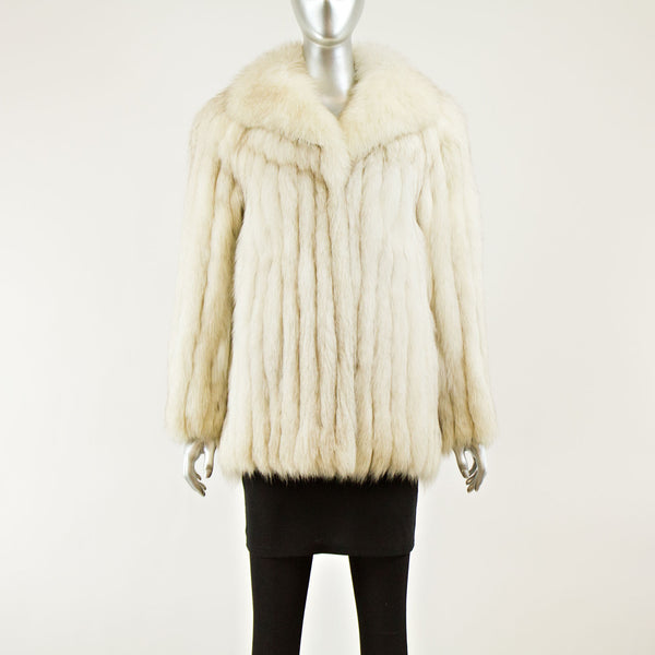 Blue Fox Jacket - Size S ( Vintage Furs)