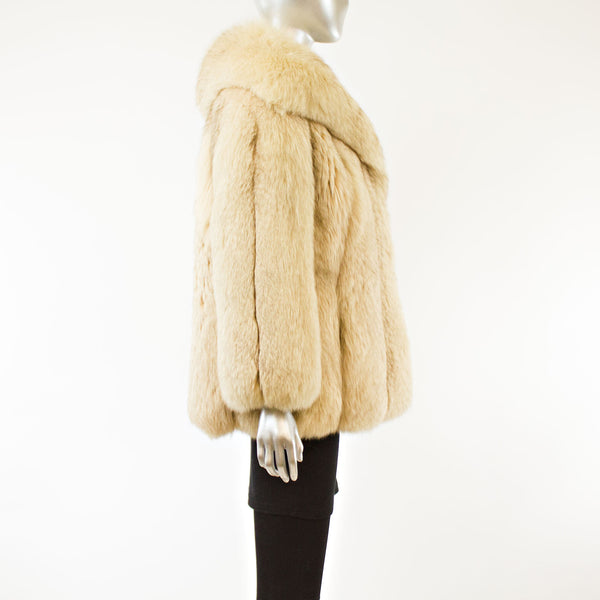 Blue Fox Jacket- Size M (Vintage Furs)