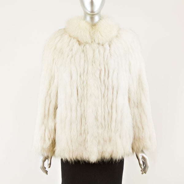 Blue Fox Jacket - Size L (Vintage Furs)
