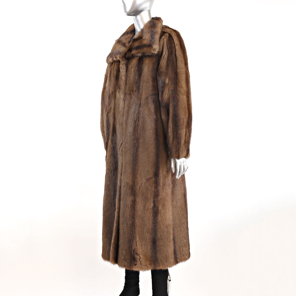 Brown Lamb Coat- Size M (Vintage Furs)