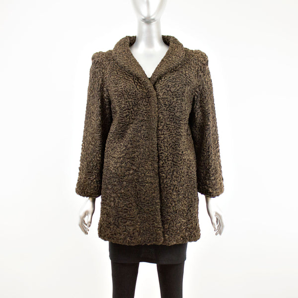 Brown Persian Lamb Jacket- Size S (Vintage Furs)