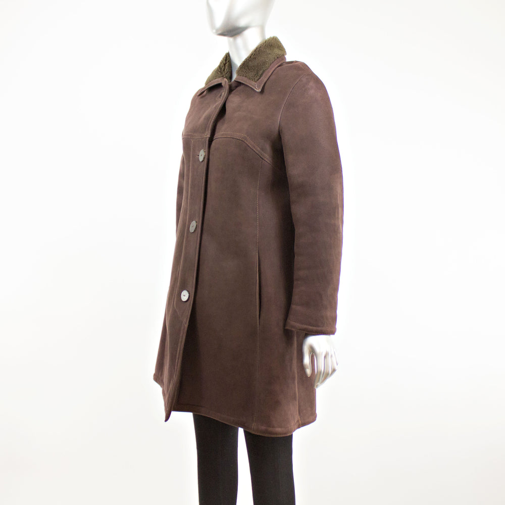 Brown Shearling Jacket- Size S (Vintage Furs)
