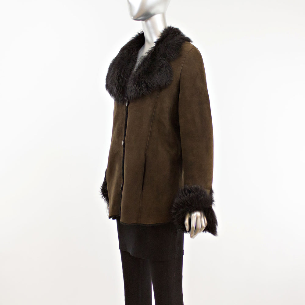 Brown Shearling Jacket- Size S-M (Vintage Furs)
