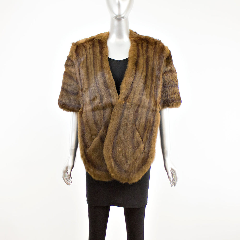 Brown Squirrel Stole- Free Size (Vintage Furs)