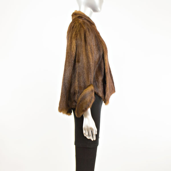 Chinese Mink Capelet with Sleeve- Free Size (Vintage Furs)