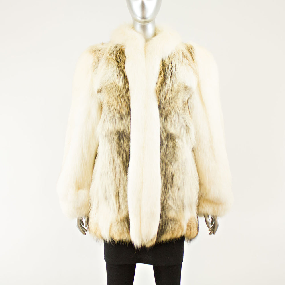 Coyote Jacket Fox Sleeves and Tux Collar - Size S-M ( Vintage Furs)