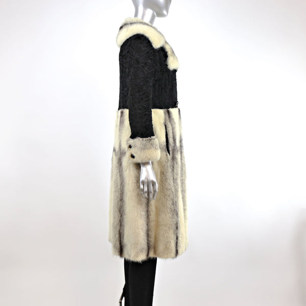 Cross Mink with Persian Lamb Coat- Size XS (Vintage Furs)
