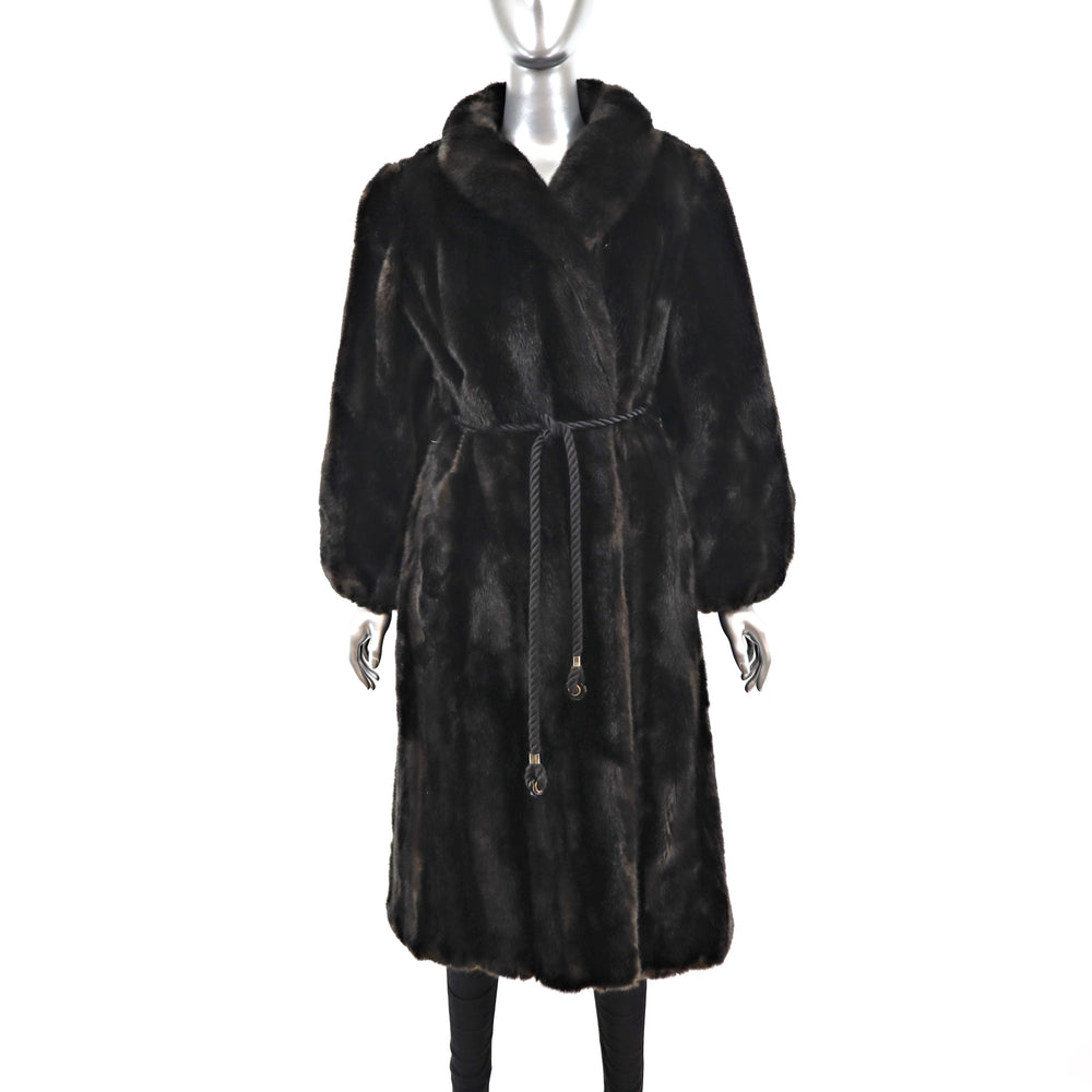 Faux Fur Coat- Size L