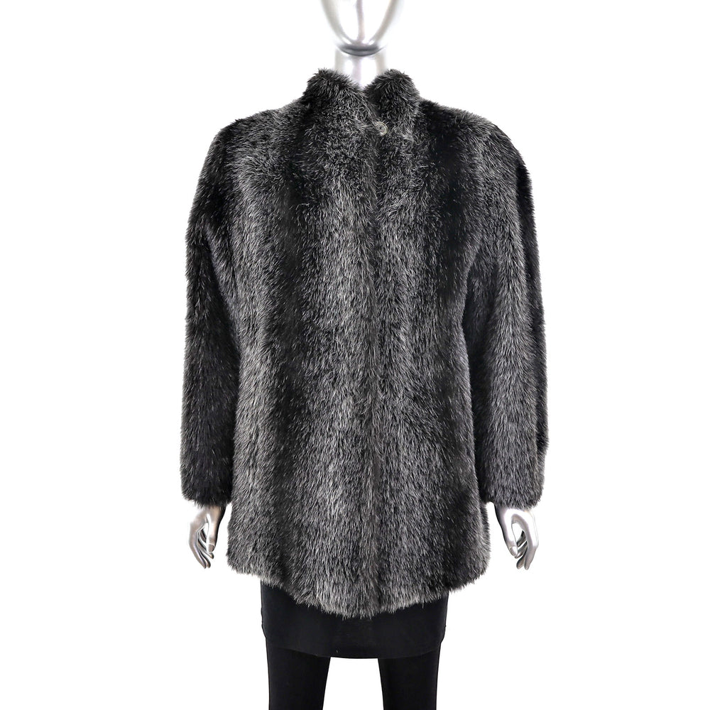 Faux Fur Jacket- Size M