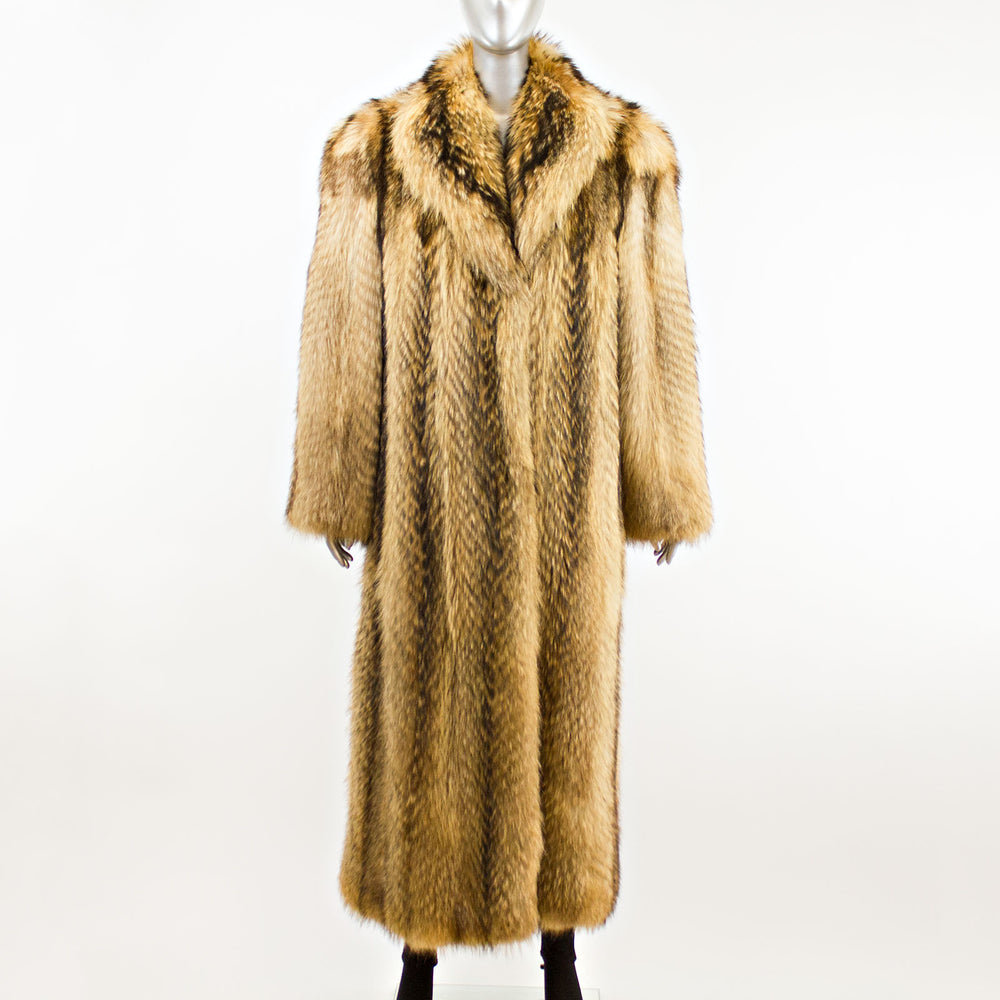 Finn Raccoon Coat- Size XL (Vintage Furs)