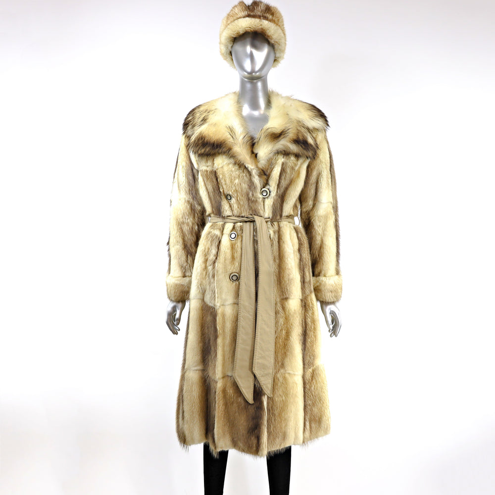 Fox Coat with Matching Hat- Size XS (Vintage Furs)