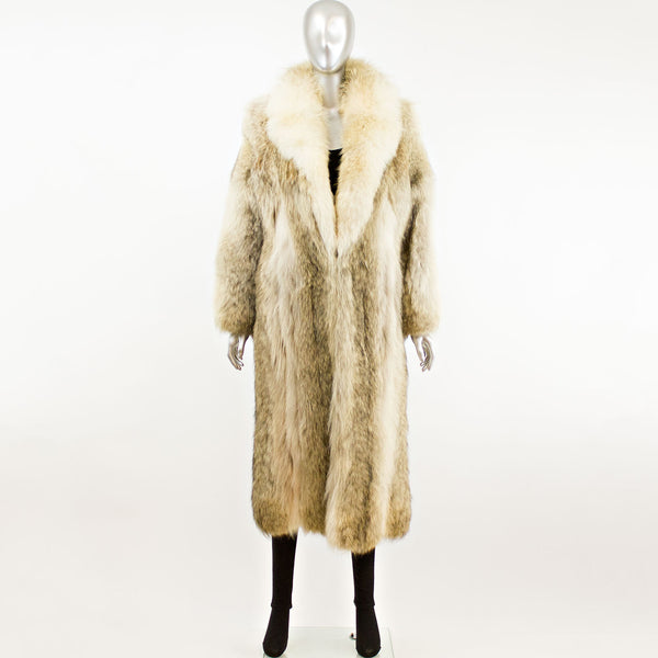 Full Length Coyote Coat- Size S (Vintage Furs)