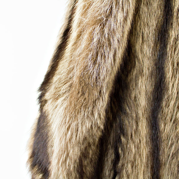 Full Length Raccoon Coat - Size S (Vintage Furs)
