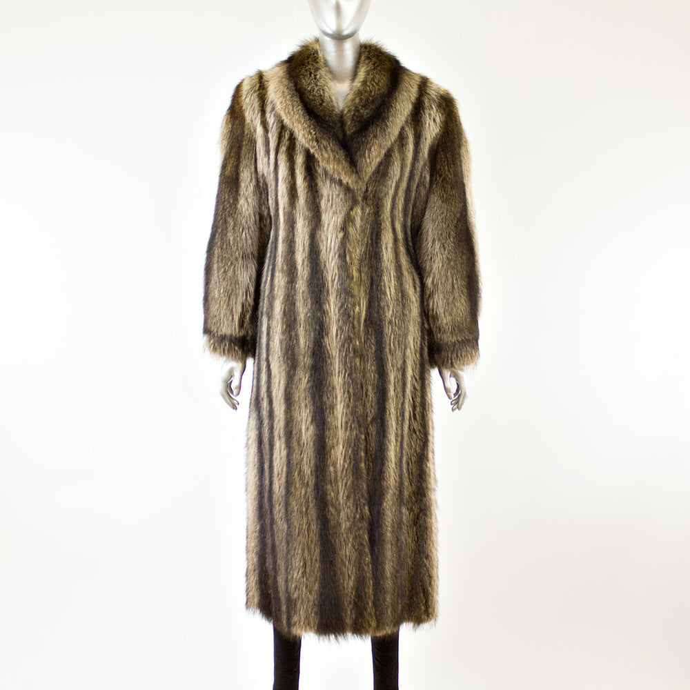 Full Length Raccoon Coat- Size S (Vintage Furs)