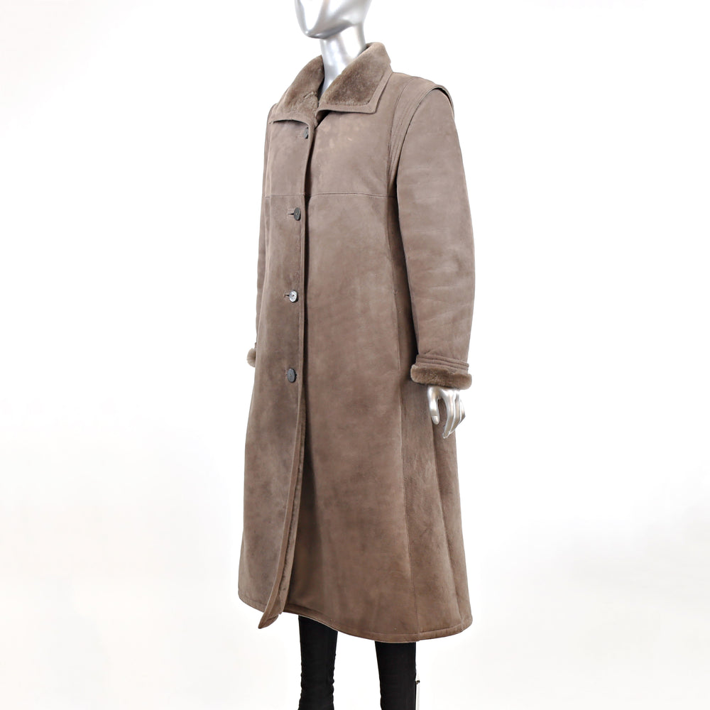 Full Length Shearling Coat- Size M-L (Vintage Furs)