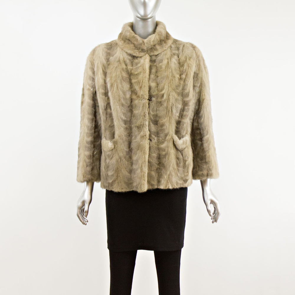 Gray Section Mink Jacket- Size M (Vintage Furs)