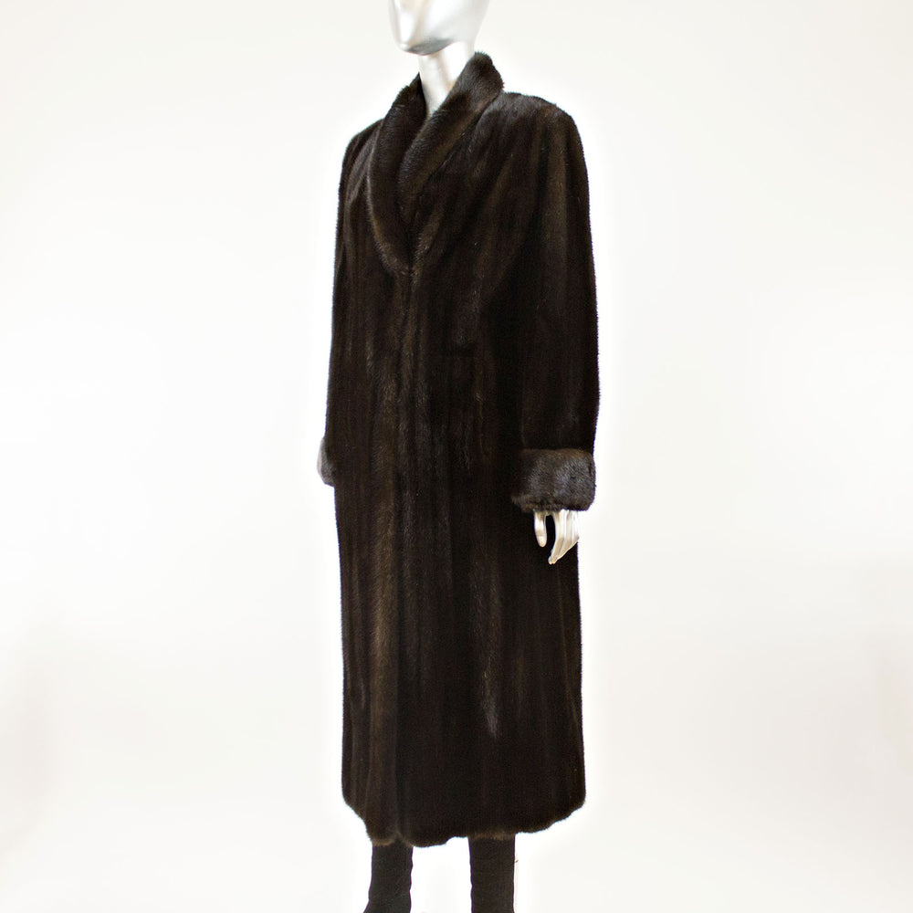 Hair Up Ranch Mink Coat- Size M (Vintage Furs)