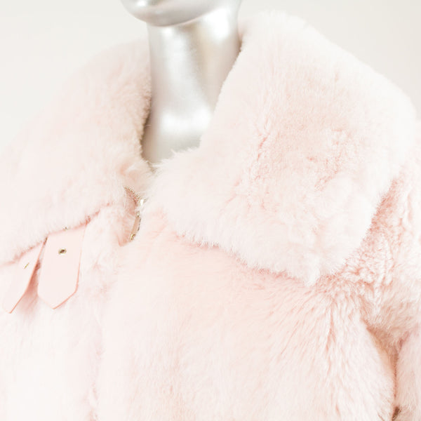 Light Pink Island Lamb Over Sized Jacket 3034- Sizes Available ( Vintage Furs)
