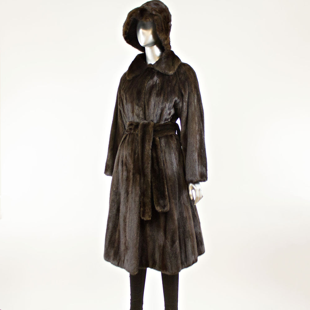 Mahogany Mink Coat and Two Hats- Size S-M (Vintage Furs)