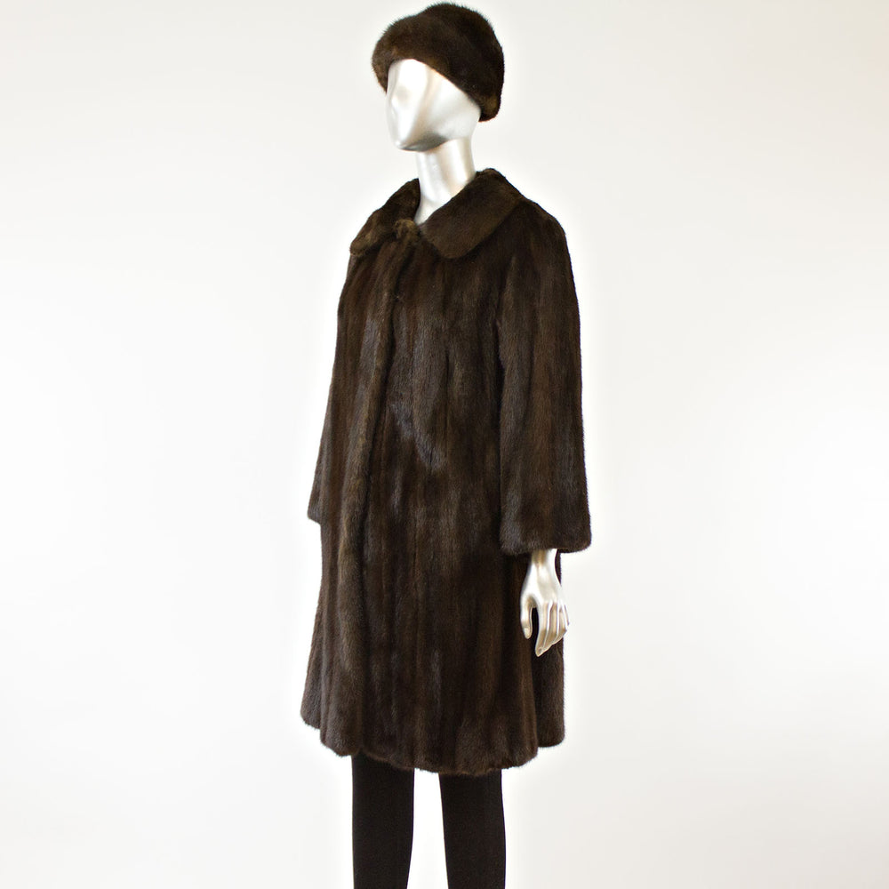 Mahogany Mink Coat and Hat- Size S (Vintage Furs)