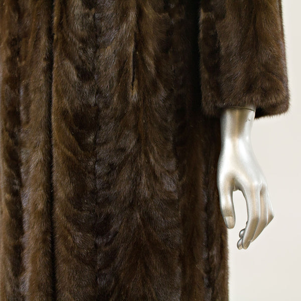 Mahogany Sectioned Mink Coat - Size XS (Vintage Furs)