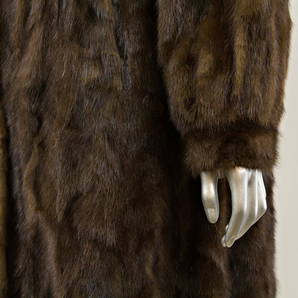 Mahogany Section Mink Coat - Size M ( Vintage Furs)