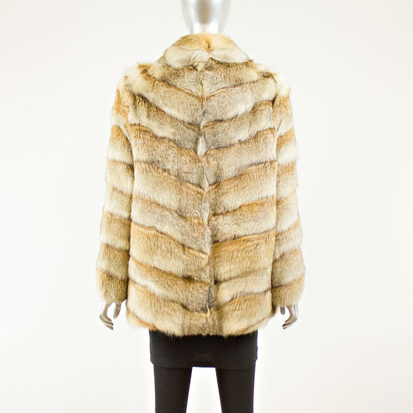 Multi Colored Chevron Rabbit Jacket - Size M ( Vintage Furs)