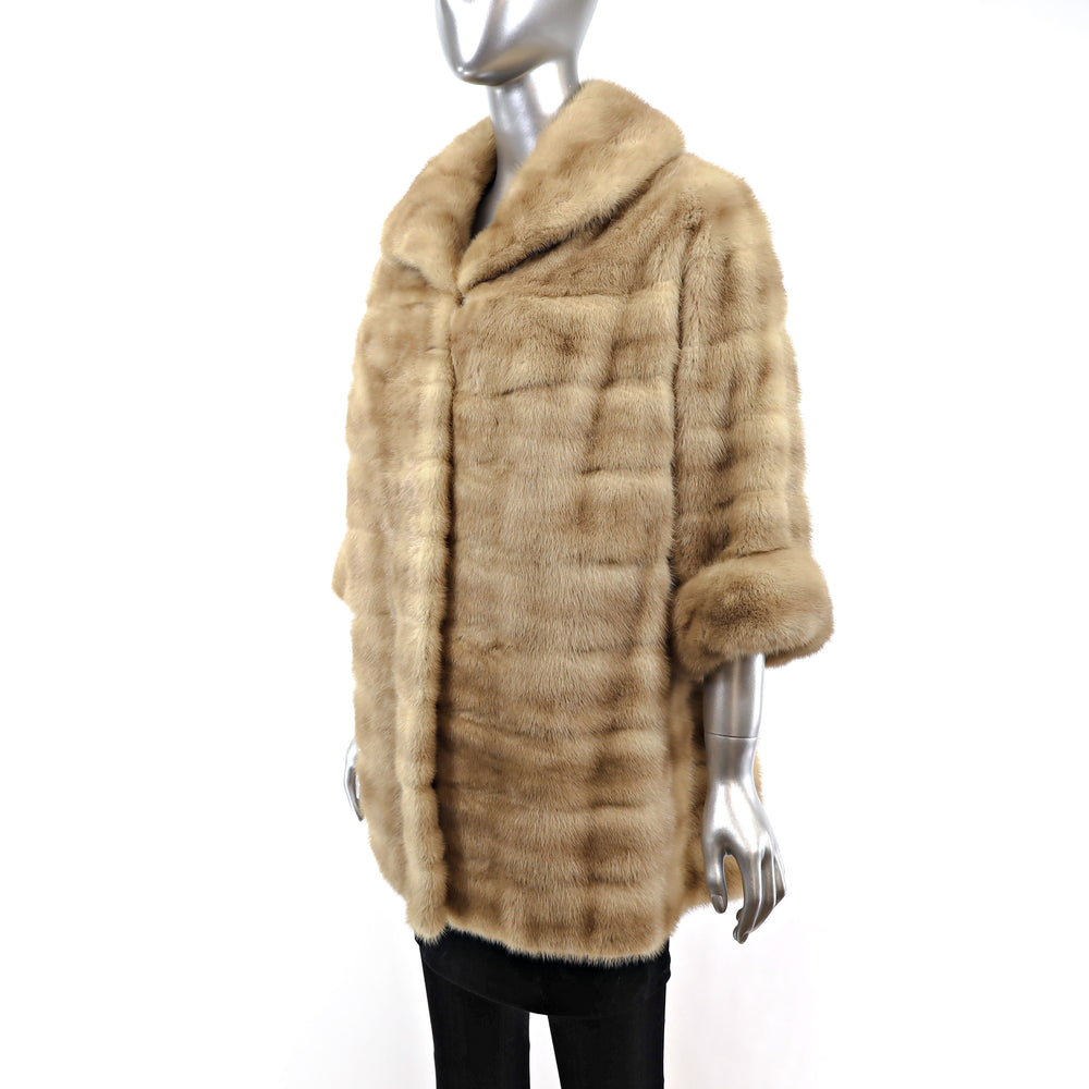Autumn Haze Mink Horizontal Coat- Size M-L
