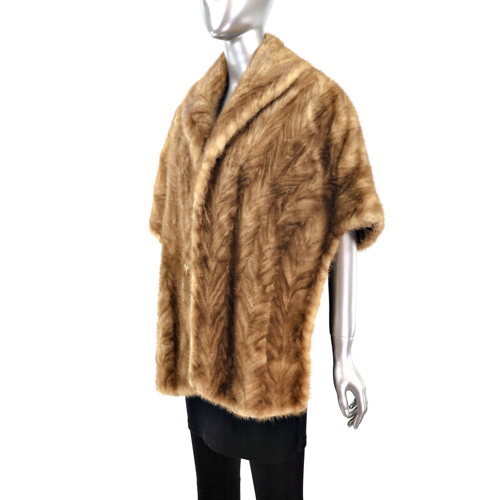 Section Mink Stole- Size Free (Vintage Furs)