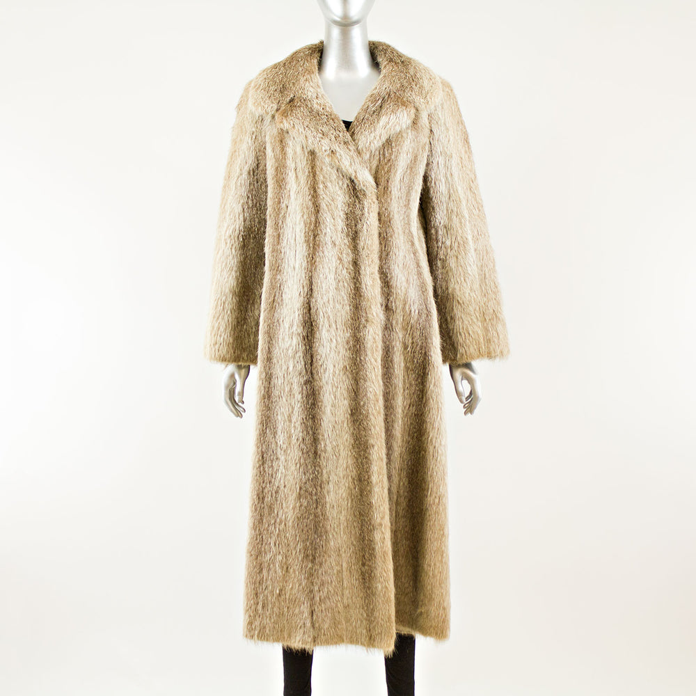 Natural Raccoon coat - Size S (Vintage Furs)