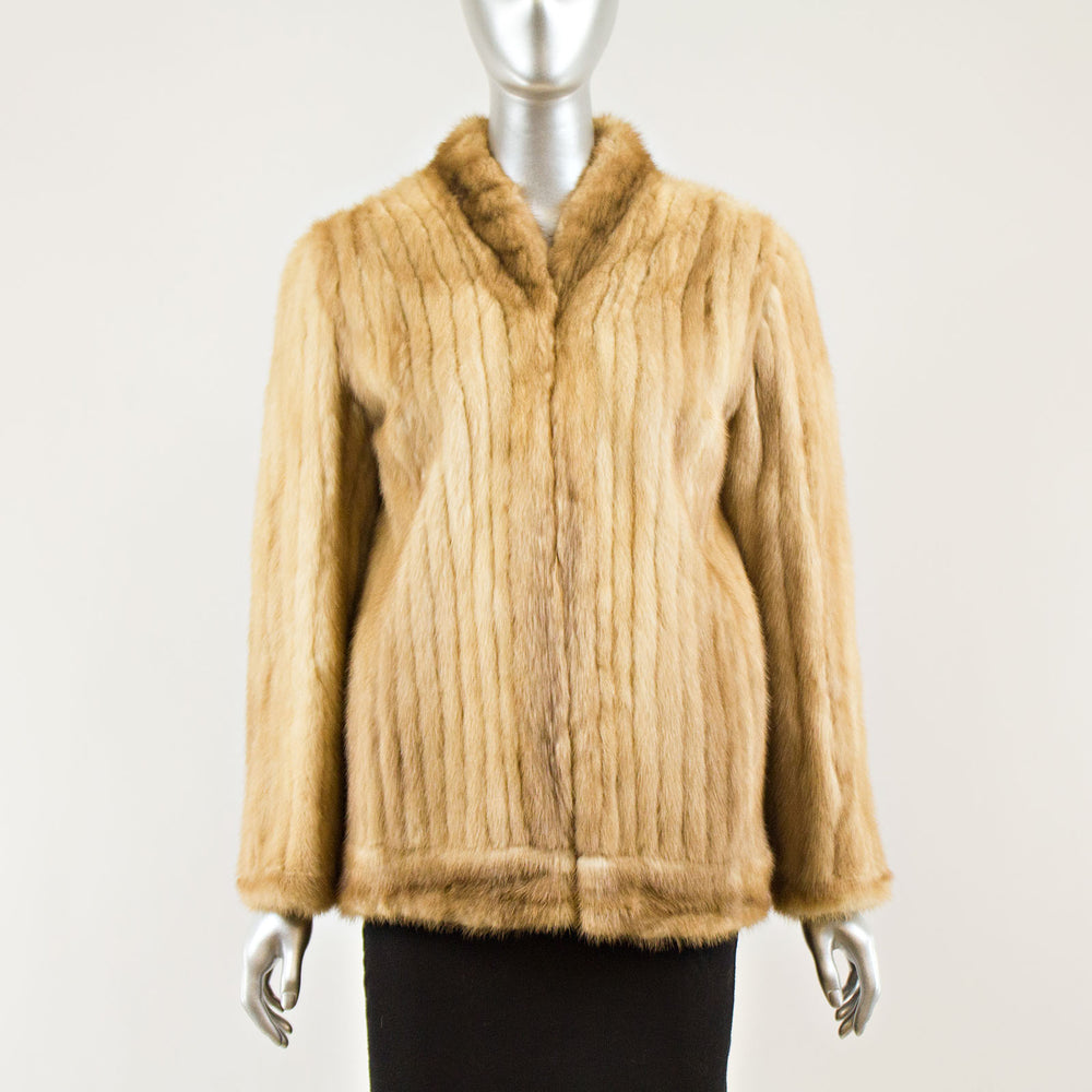 Palomino Corded Jacket Mink - Size S-M ( Vintage Furs)