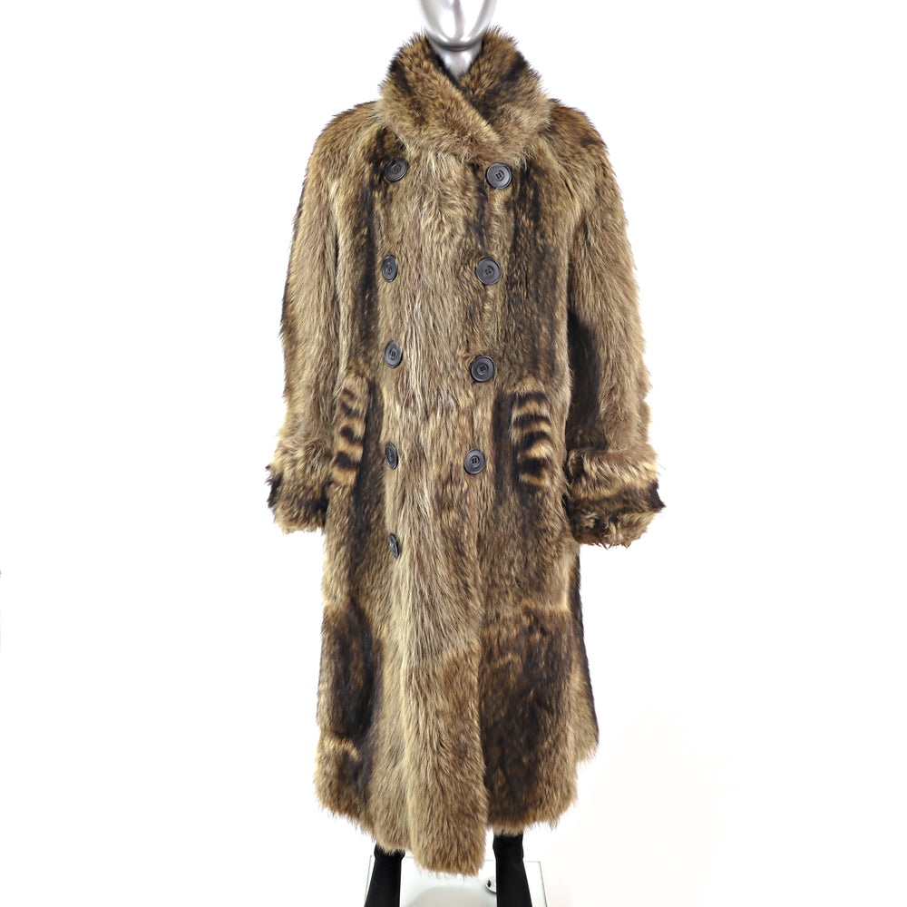 Men's Raccoon Coat- Size L (Vintage Furs)