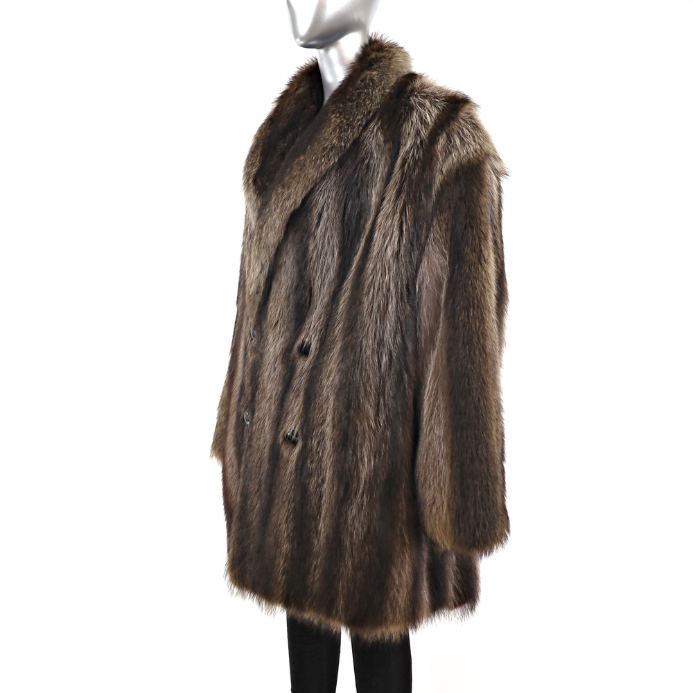 Men's Raccoon 3/4 Coat- Size XL (Vintage Furs)