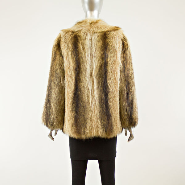 Raccoon Jacket with Buttons- Size S (Vintage Furs)