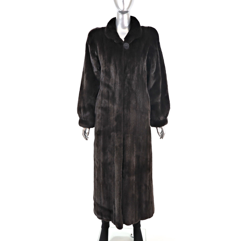 Full Length Ranch Mink Coat- Size M (Vintage Furs)