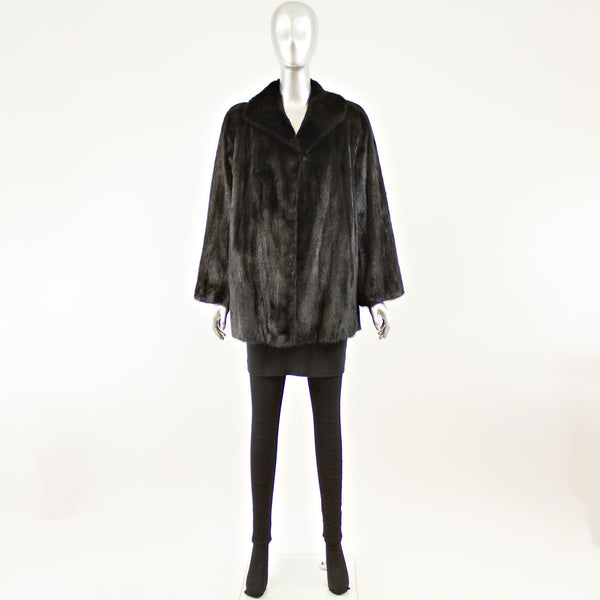 Ranch Mink Jacket - Size L-XL (Vintage Furs)