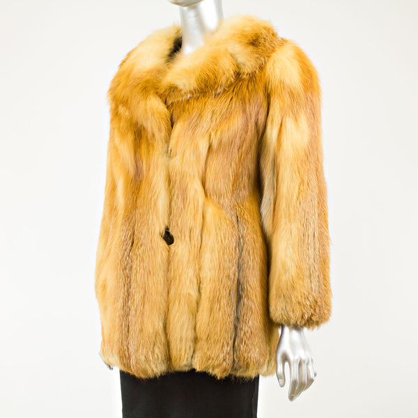 Red fox jacket - Size S (Vintage Furs)