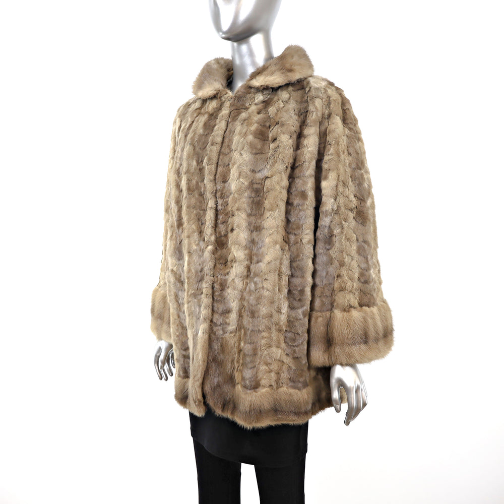 Section Mink Jacket- Size L (Vintage Furs)