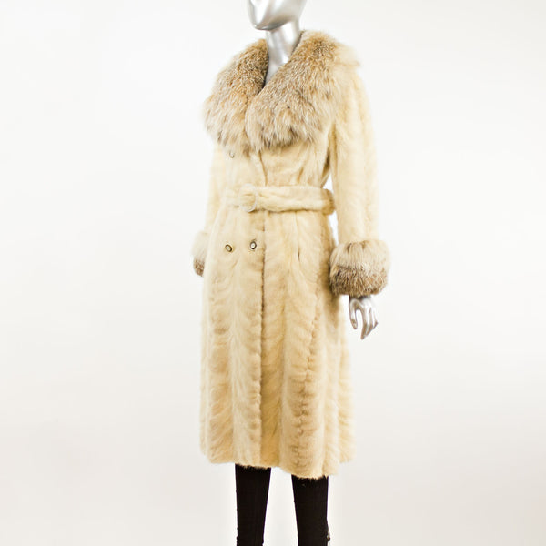 Section Mink Coat with Lynx Trim- Size S (Vintage Furs)