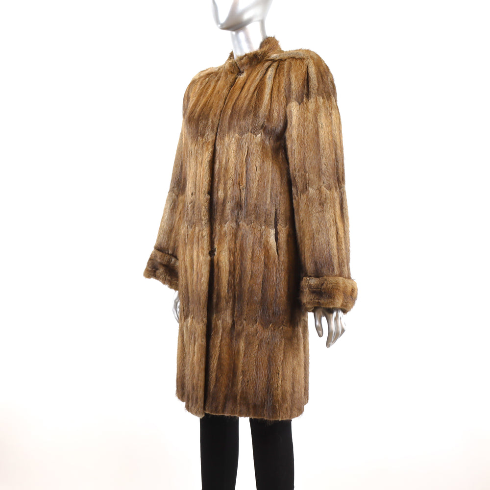 Section Muskrat Coat- Size XS (Vintage Furs)