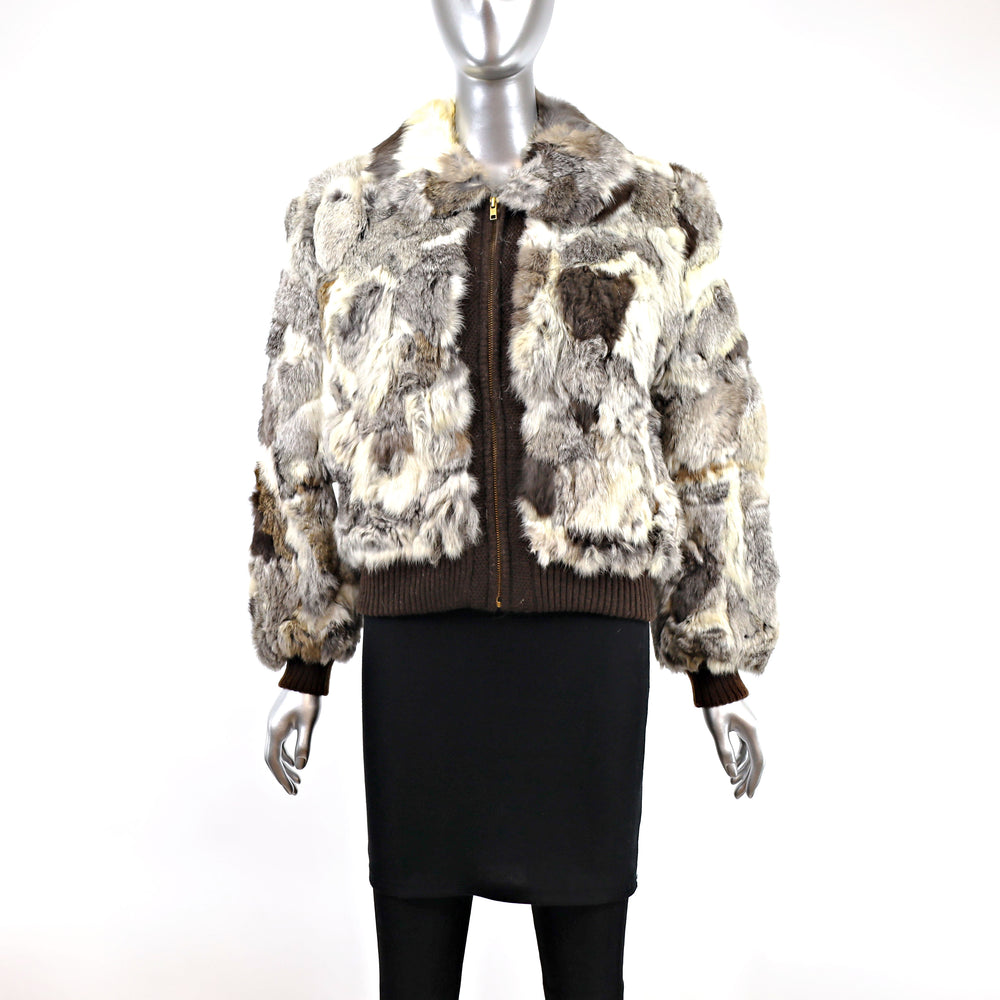 Section Rabbit Jacket- Size M-L (Vintage Furs)