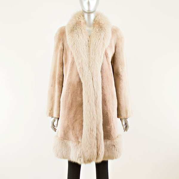 Sheared Beaver with Fox Trim Stroller - Size M-L (Vintage Furs)