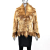 Sheared Mink Jacket with Fox Trim- Size XS-S