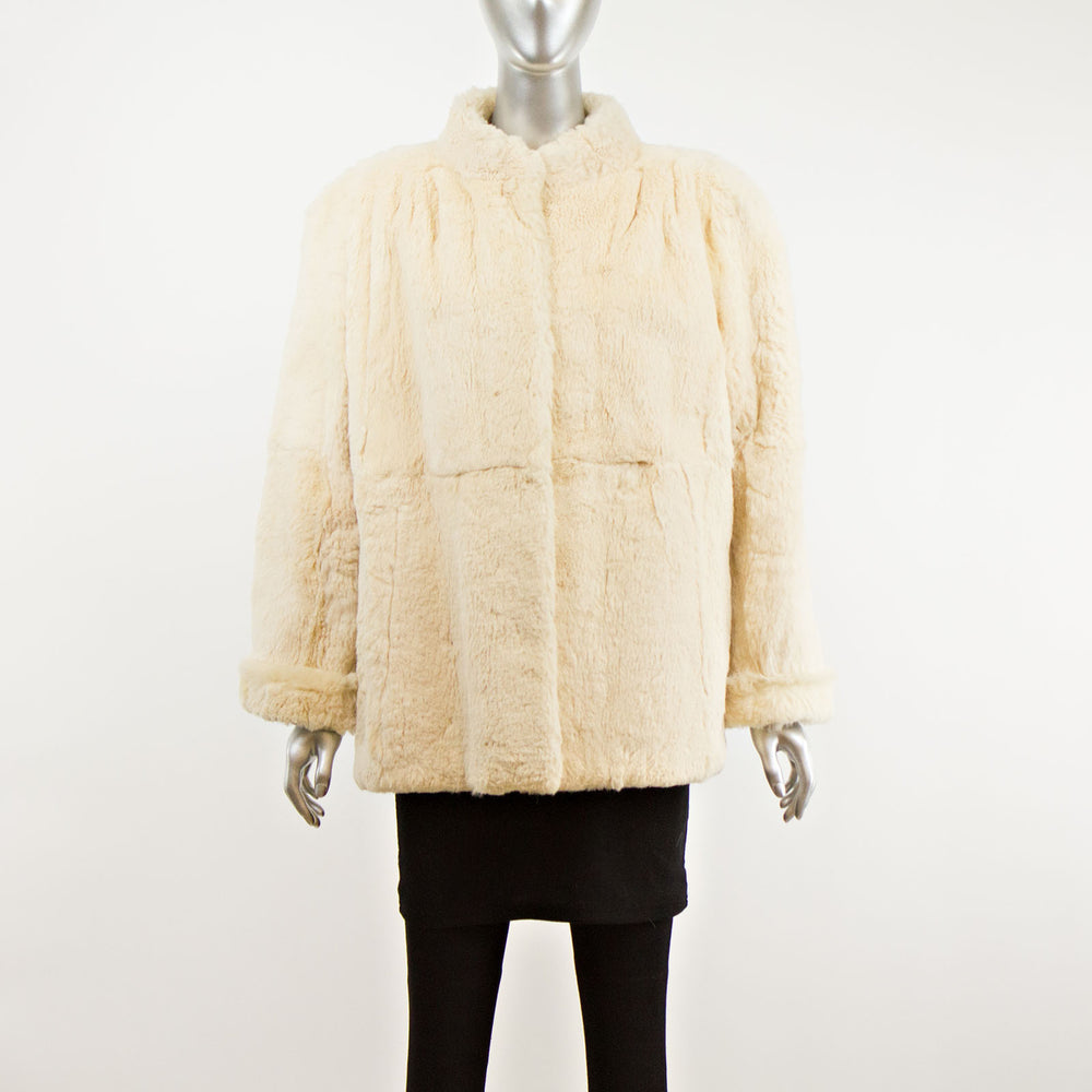White Rabbit Reversible Jacket- Size XL (Vintage Furs)