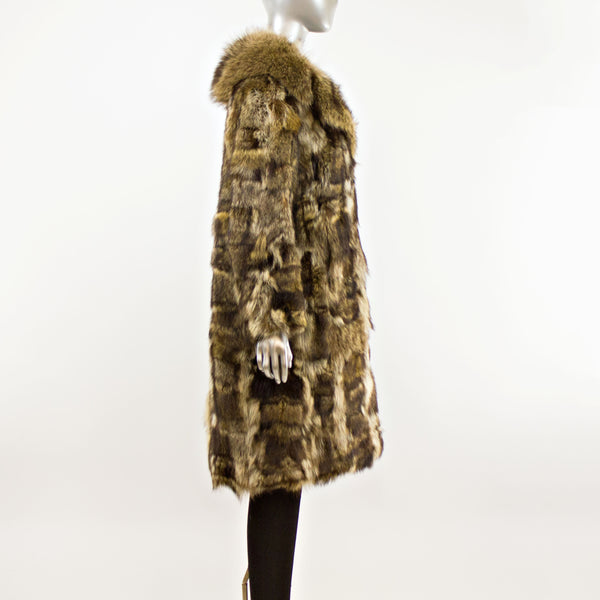 Women's Raccoon Coat- Size M-L (Vintage Furs)