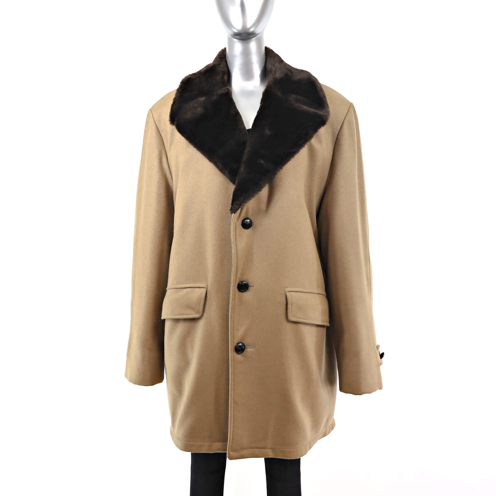 Men's Wool Coat- Size XXL (Vintage Furs)