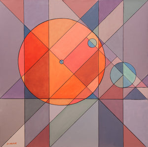 "Modern Geometry by Don Munz 30"" x 30"" Original Oil on Canvas"