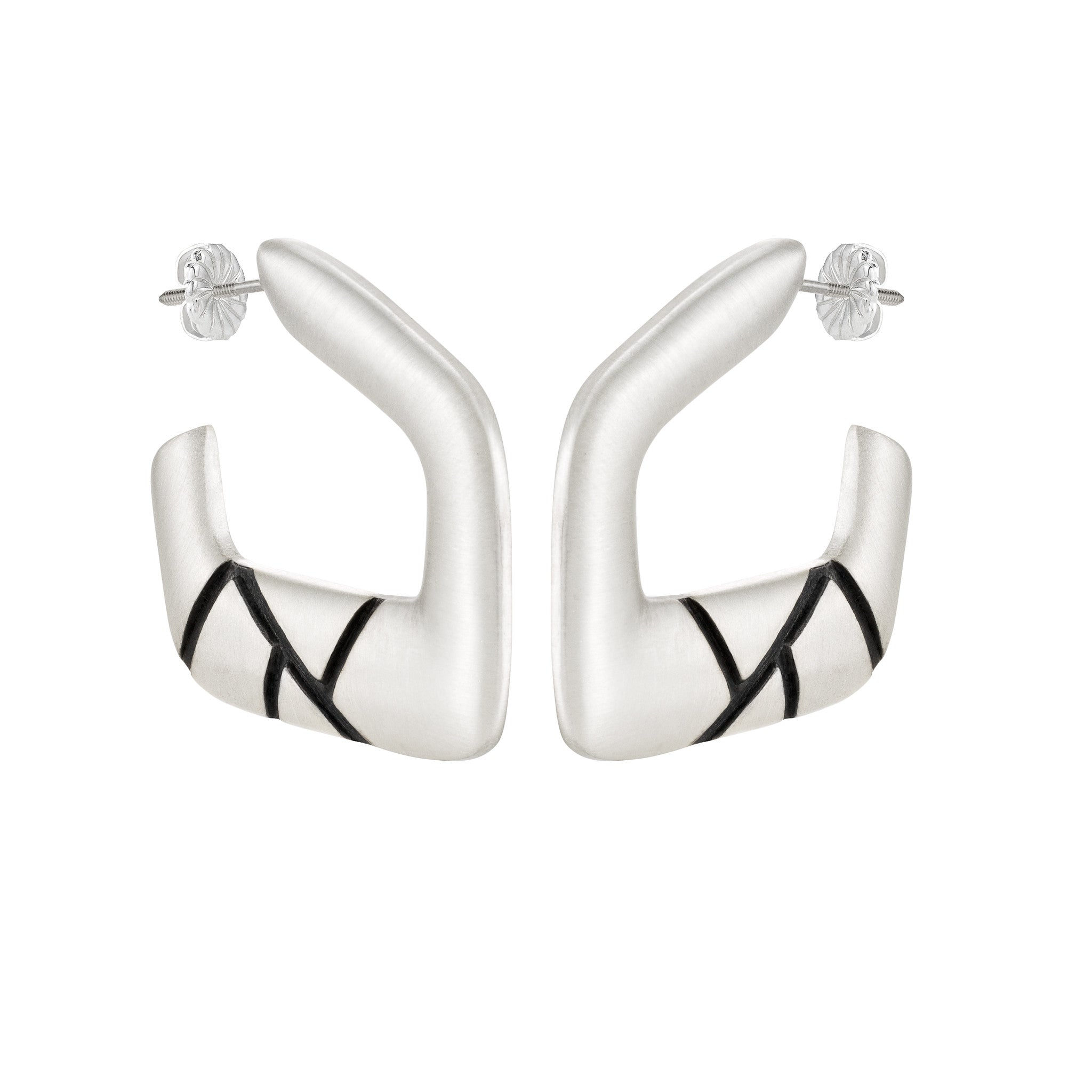 Asymmetrical Hoop Earrings: Satin