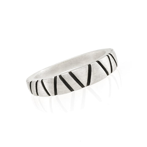 Textured Band Ring: Satin