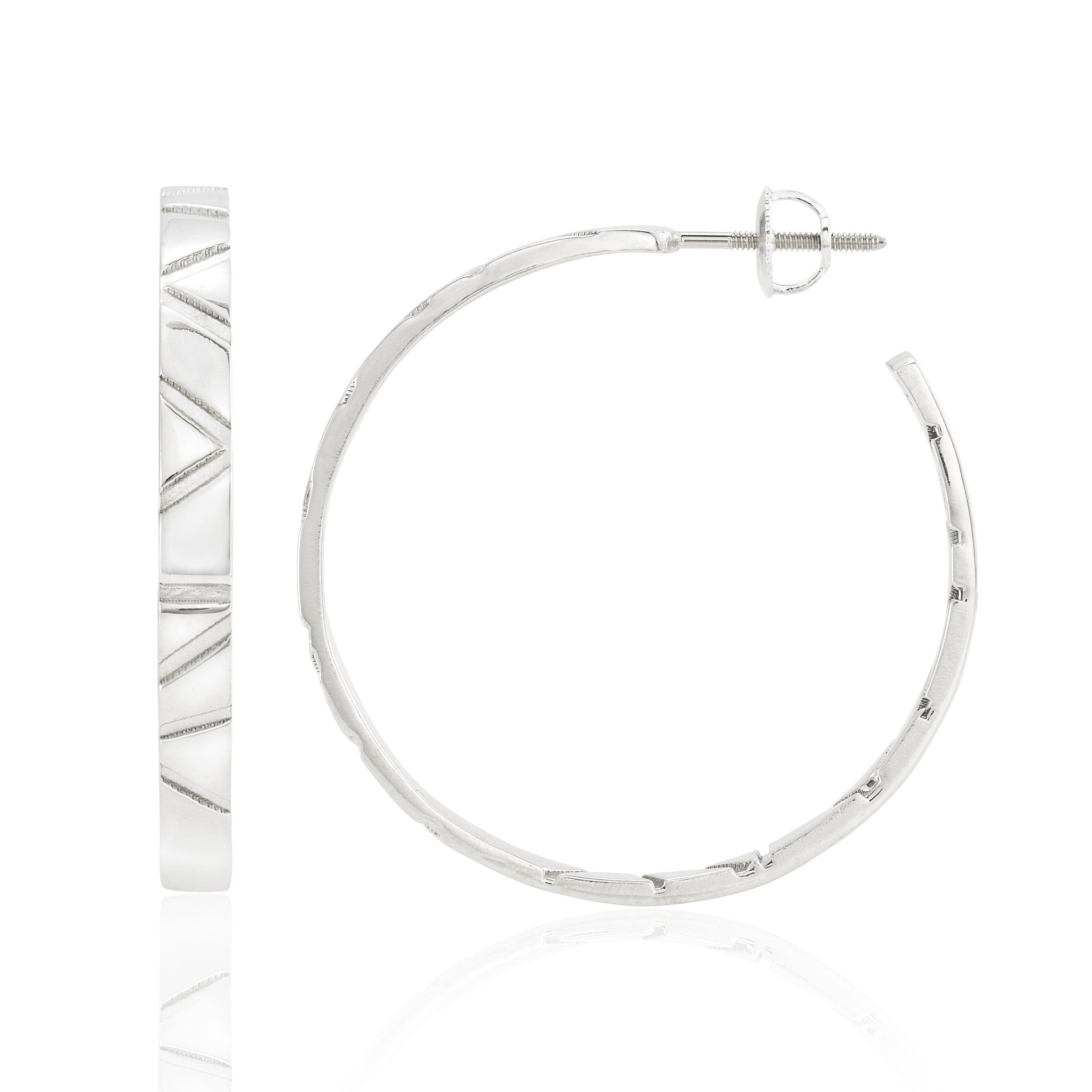 Skinny Hoop Earrings: Shiny